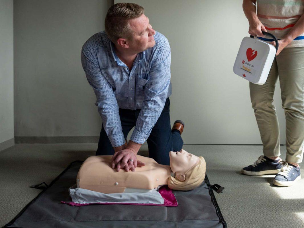 gebruik van een AED