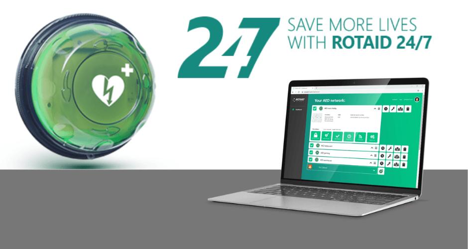 Rotaid 24/7 verhoogt de beschikbaarheid van AED's