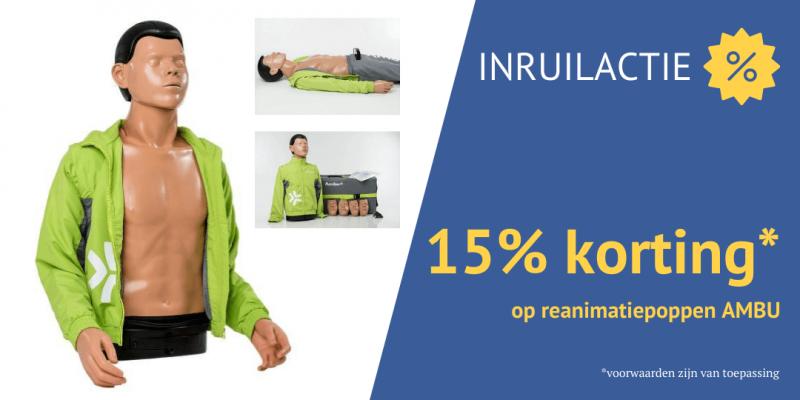 Inruilactie: 15% korting op high-end reanimatiepoppen van AMBU