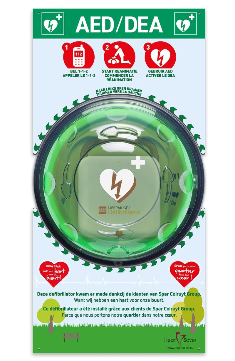 AED wandkast met infobord